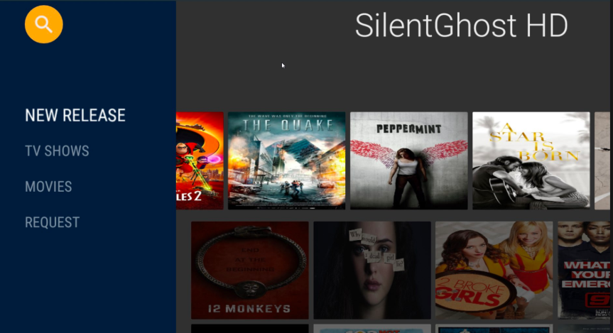 Silent Ghost HD App Installed on Android Smart TV & Android Box
